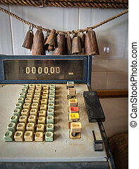 Vintage cash register - Details of an dirty old rusty...