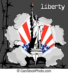 liberty - The symbolic image of winning freedom Statue of...
