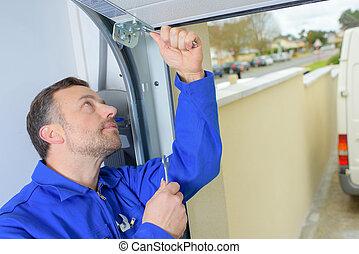 Fixing a damaged door