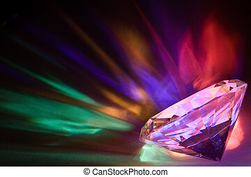 Diamond colors - Light dispersed through a large crystal...
