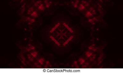 Dark red abstract loop - Geometric dark deep red colored...
