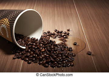 black coffee from a paper cup