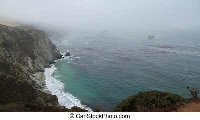 Cliff ocean California scenic view