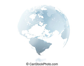3d Globe against isolated white background. - 3d renderer...