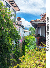 Colonial Architecture and Lush Foliage - Lush foliage and...