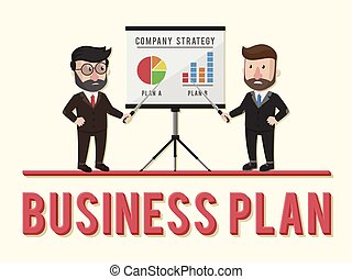 Plan business concept illustration