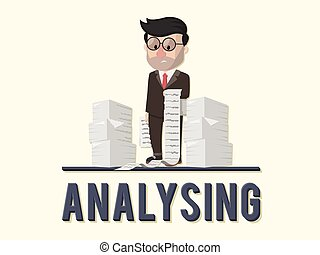 Analysing business concept illustration