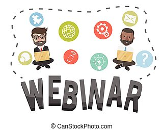 Webinar business concept illustration
