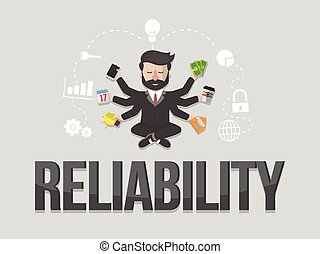 Reliability business concept illustration