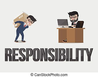 Responsibility business concept illustration