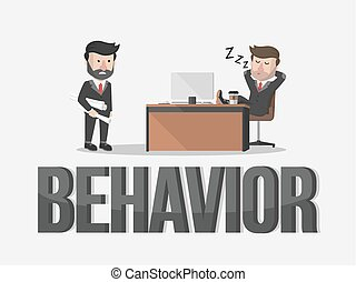 Behavior business concept illustration