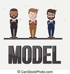 Model business concept illustration