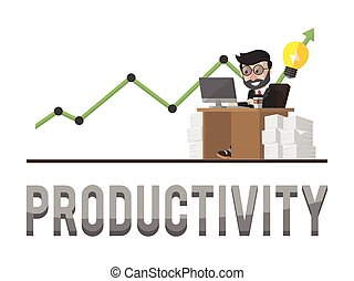 Productivity business concept illustration