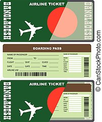 Boarding pass for passenger in Bangladesh
