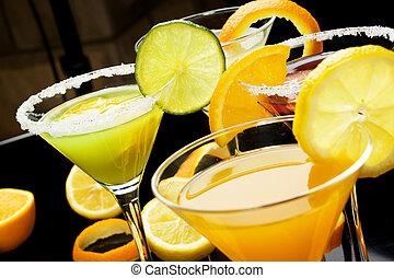 fruta, suco, coquetel, bebida