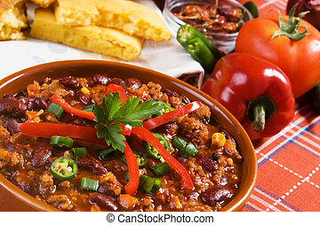 Mexican chili beans - Traditional mexican chili beans with...