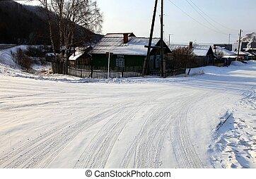 Listvianka settlement, Lake Baikal, Russia. - Group of...