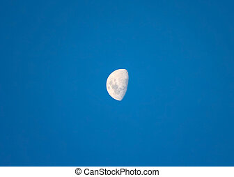 Big bright moon waxing gibbous - Bright moon orbiting earth...