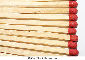 Line of matchsticks.