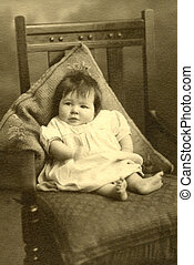 Vintage photo of baby 2