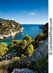 Splendid southern France coast (Calanques de Cassis),...