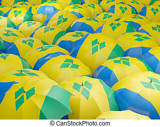 Umbrellas with flag of saint vincent and the grenadines -...