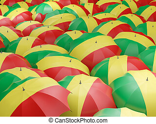 Umbrellas with flag of republic of the congo - Flag of...