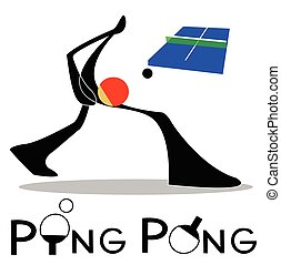 Ping Pong Table Tennis - Table Tennis or Ping Pong sport...