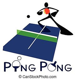 Table Tennis Ping Pong - Table Tennis or Ping Pong sport...