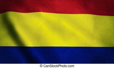 Realistic Ultra-HD flag of the Romania waving in the wind....