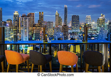 Bangkok city - Bangkok, Bangkokcity view point from rooftop...