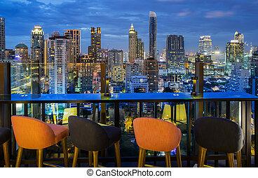 Bangkok city - Bangkok, Bangkokcity view point from rooftop...