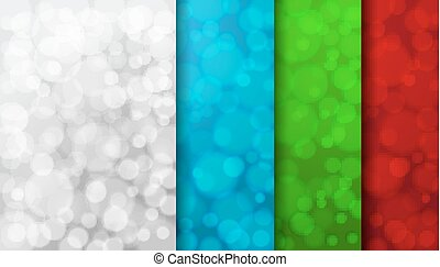 Set of color blurred backgrounds