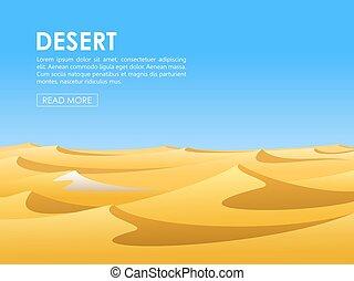 Desert vector lanscape