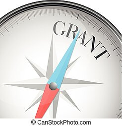 compass concept Grant - detailed illustration of a compass...