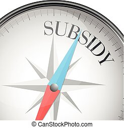 compass concept Subsidy - detailed illustration of a compass...