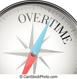 compass concept Overtime - detailed illustration of a...