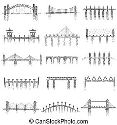 Different structure of Bridge - vector illustration of...
