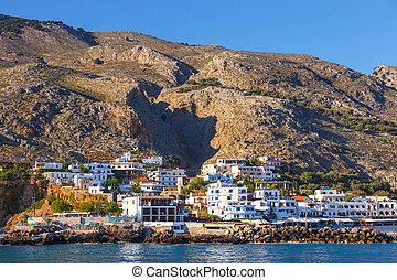 pequeño, pueblo, Chora, Sfakion, sur, de, Crete, grecia
