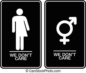 All gender restroom sign Male, female transgender Vector...