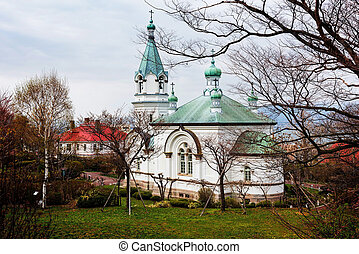 Catholic orthodox church in Hakodate, Japan - Catholic...