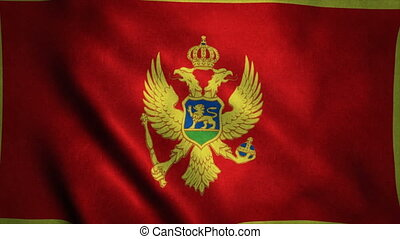 Realistic Ultra-HD flag of the Montenegro waving in the...