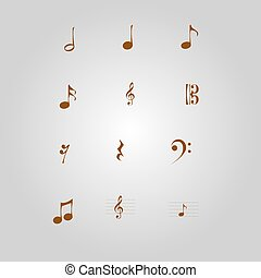 Musical notes - Vintage musical notes