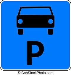 Parking sign - Car parking sign, vector illustration