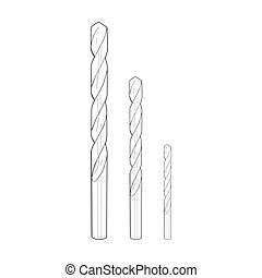 Drill bits - vector illustration