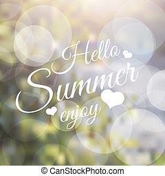 Say hello to summer - Vector lettering inspirational...