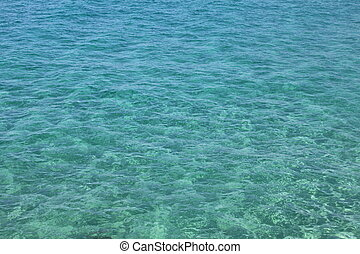 clear sea water - Natural blue-green background of the clear...