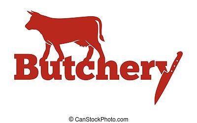 Butchery vector icon - Vector illustration of the Butchery