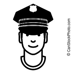 Police man avatar vector icon - Vector illustration of the...