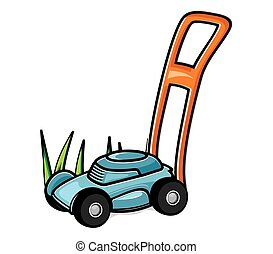 the Lawn Mower - Vector illustrations of the Lawn Mower